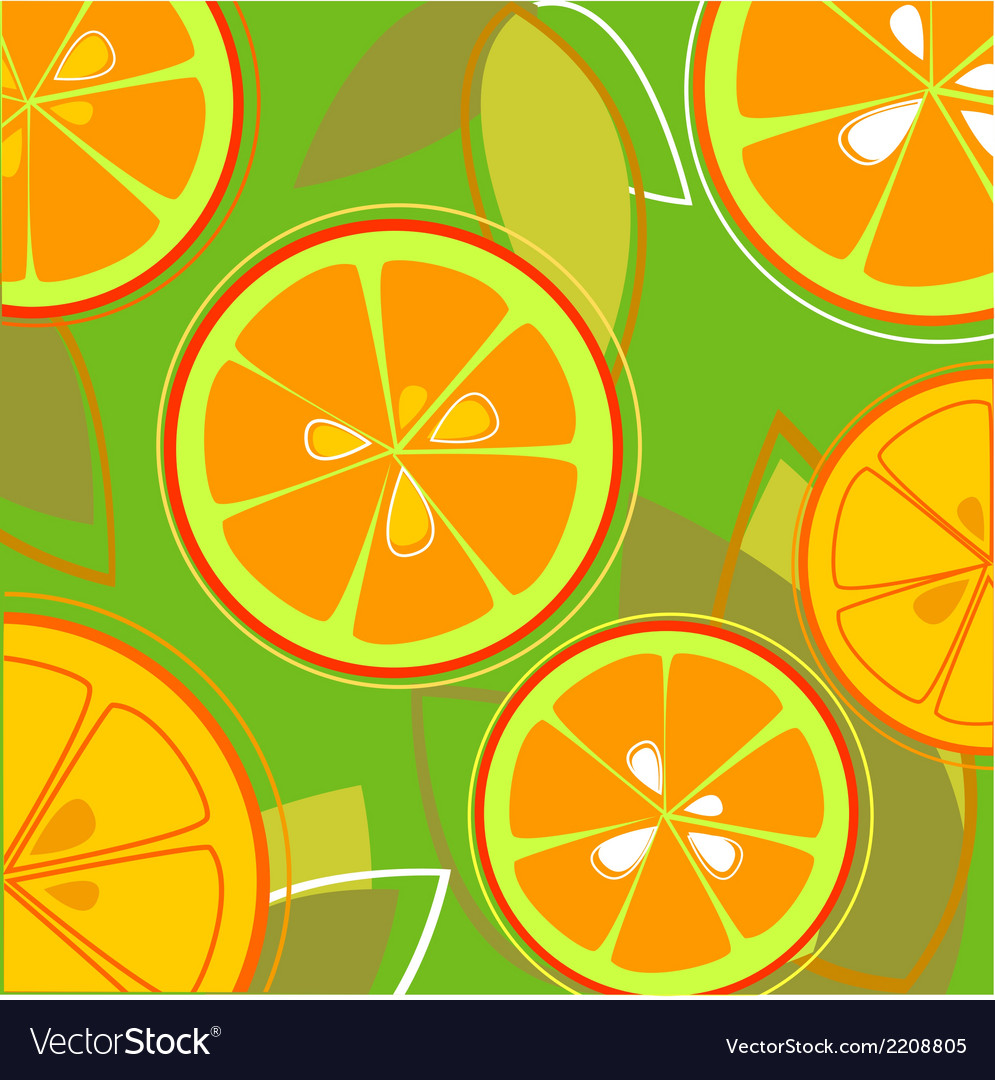 Orange fresh taste eps vector | Price: 1 Credit (USD $1)