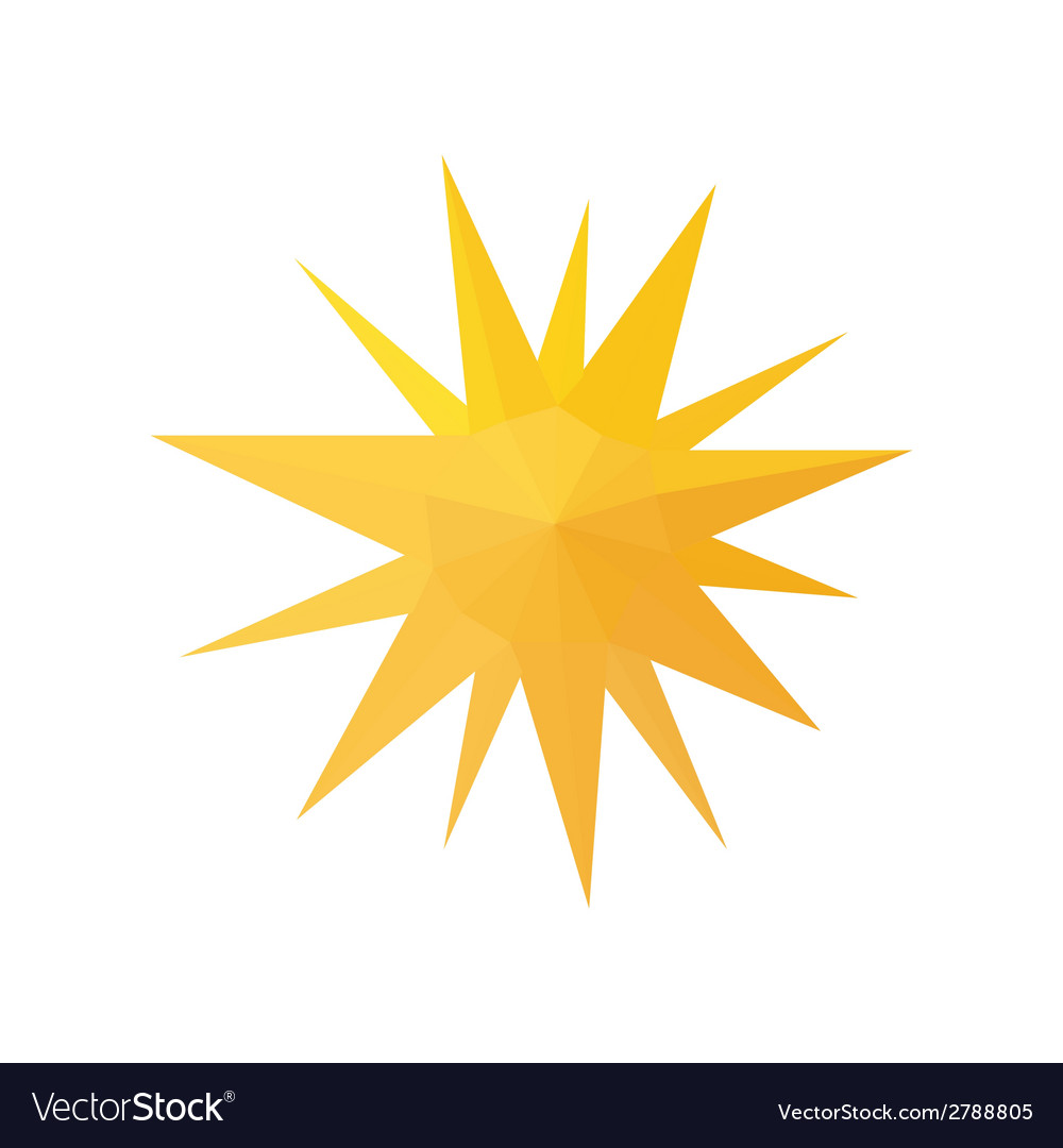 Origami sun isolated on white background vector | Price: 1 Credit (USD $1)