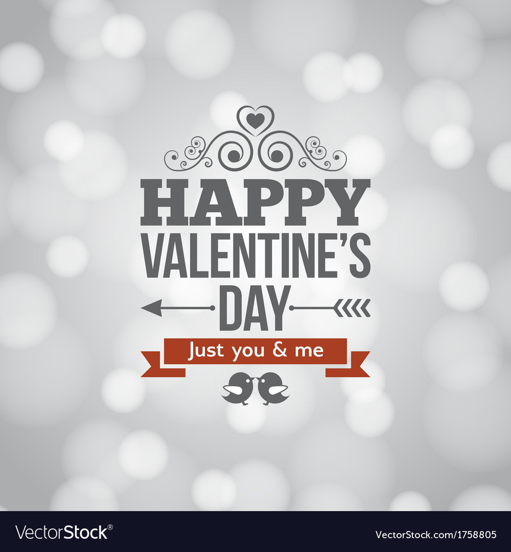Valentines day silver lights vintage background vector | Price: 1 Credit (USD $1)