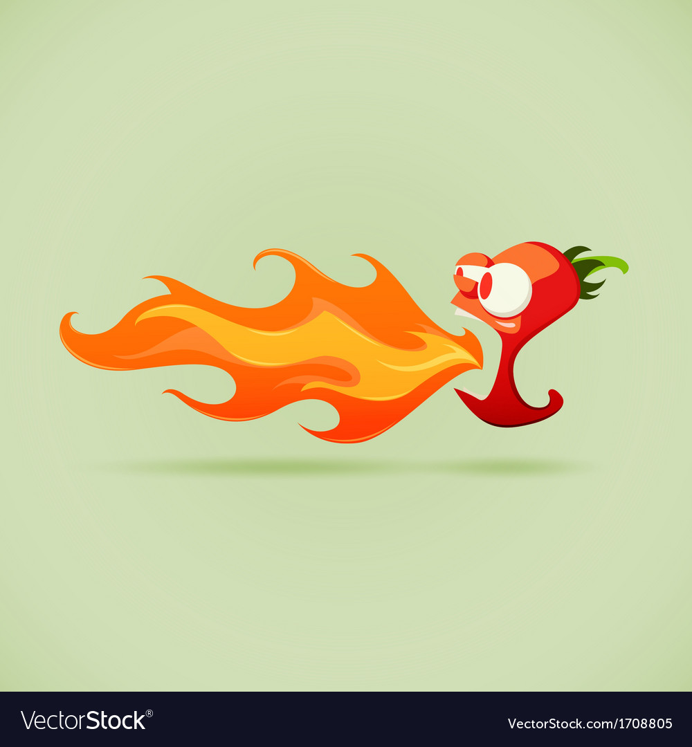 Very hot chilli pepper vector | Price: 1 Credit (USD $1)