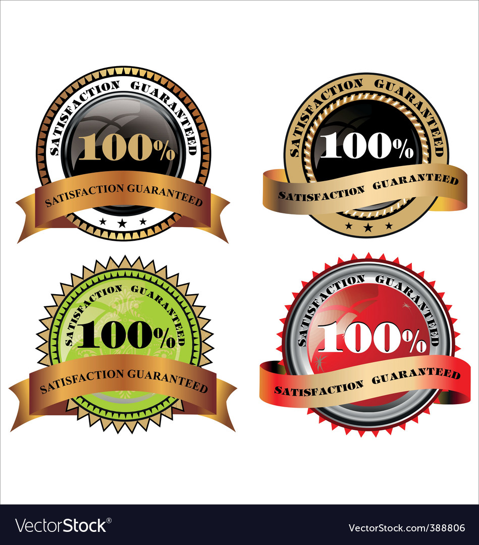 100% satisfaction guaranteed vector | Price: 1 Credit (USD $1)