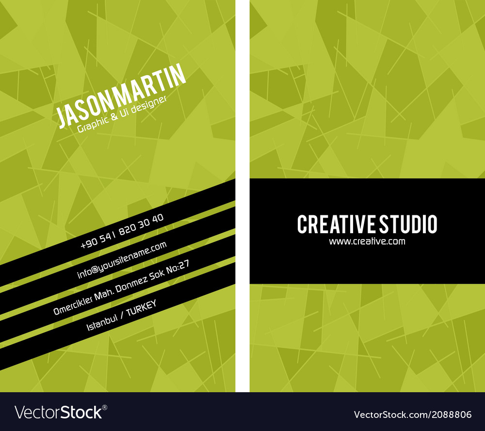 Abstract business card vector | Price: 1 Credit (USD $1)