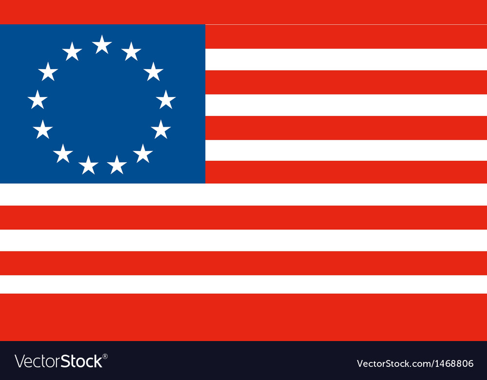 American betsy ross stars and stripes flag vector | Price: 1 Credit (USD $1)