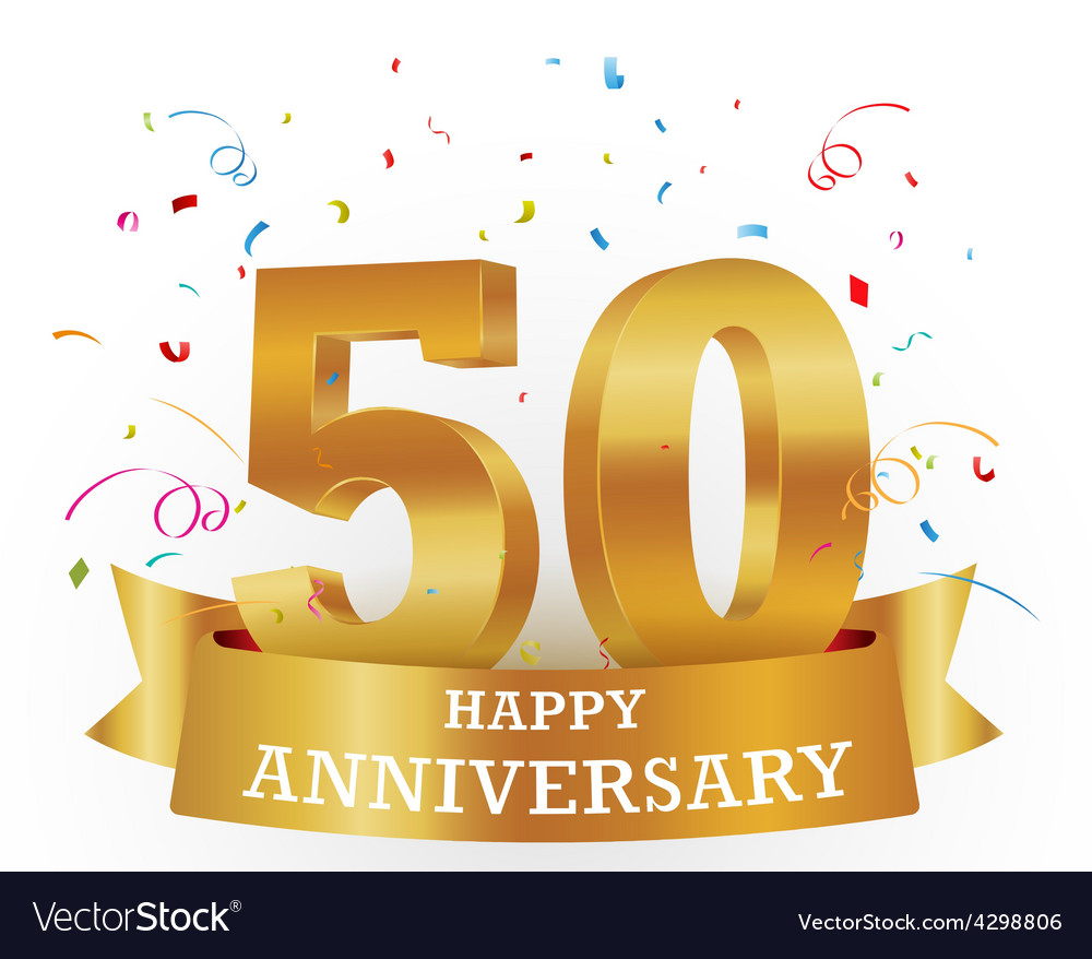 Anniversary celebration with confetti vector | Price: 1 Credit (USD $1)