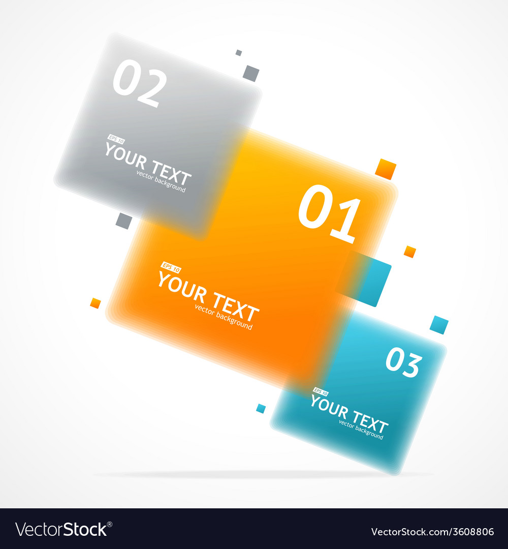 Blurred colorful text boxes infographics vector | Price: 1 Credit (USD $1)
