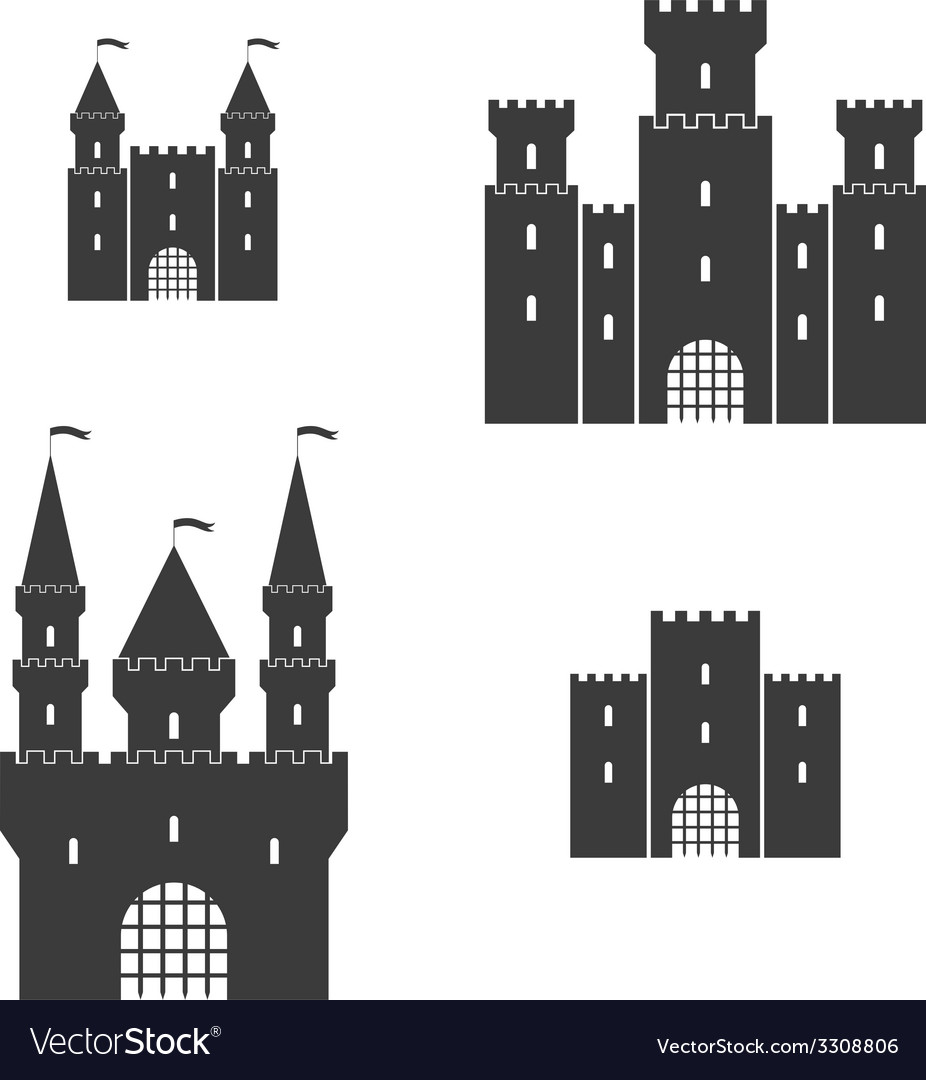 Castle set vector | Price: 1 Credit (USD $1)