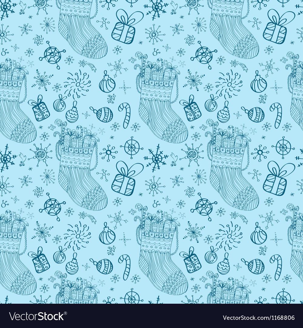 Christmas seamless socks vector   Price: 1 Credit (USD $1)