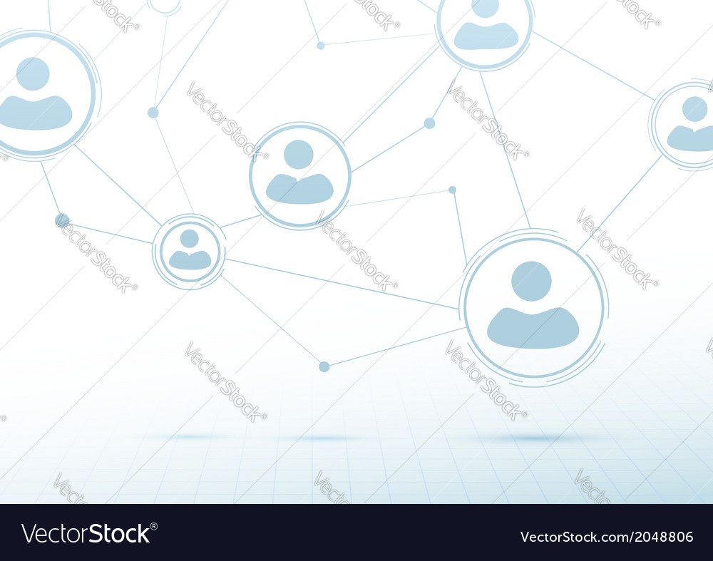 Creative networking concept - social connections vector   Price: 1 Credit (USD $1)