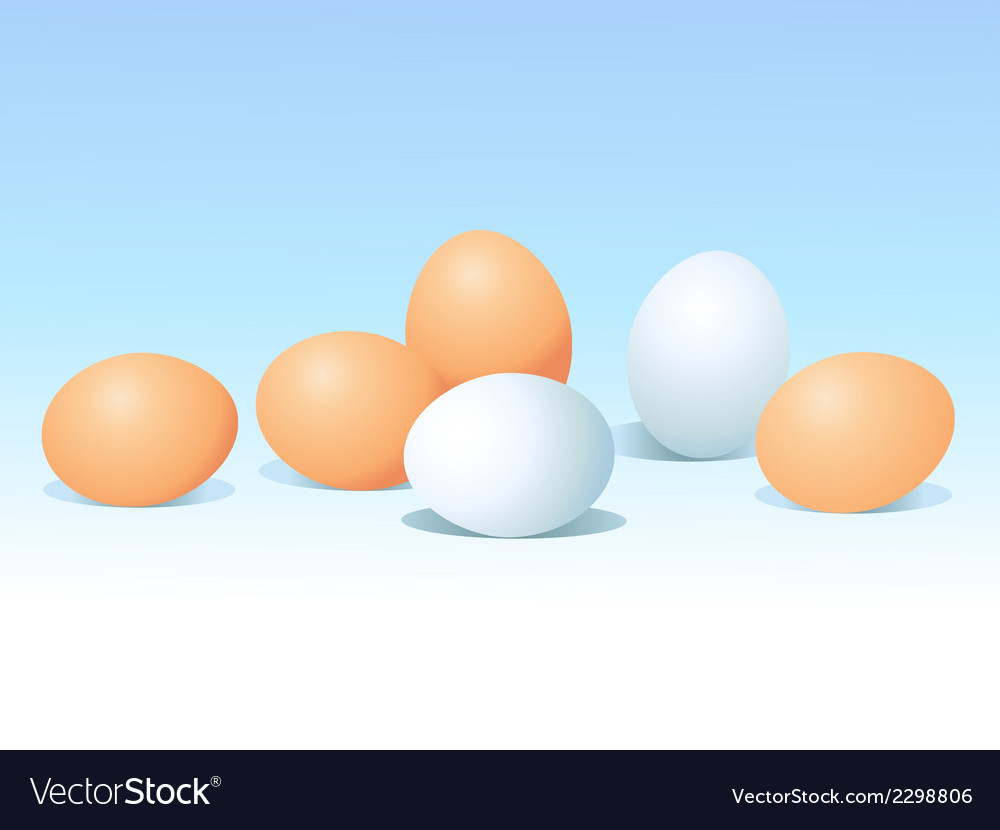 Eggs on blue background vector | Price: 1 Credit (USD $1)