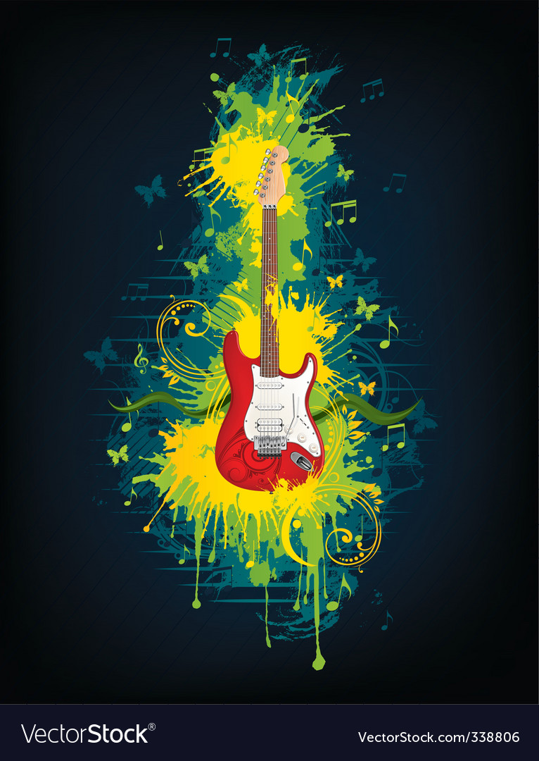 Electric guitar vector | Price: 3 Credit (USD $3)