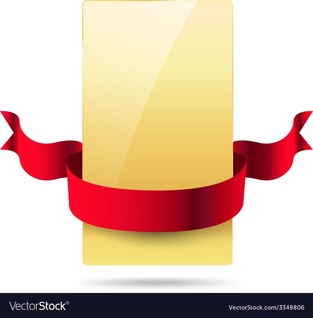 Ribbon card vector   Price: 3 Credit (USD $3)
