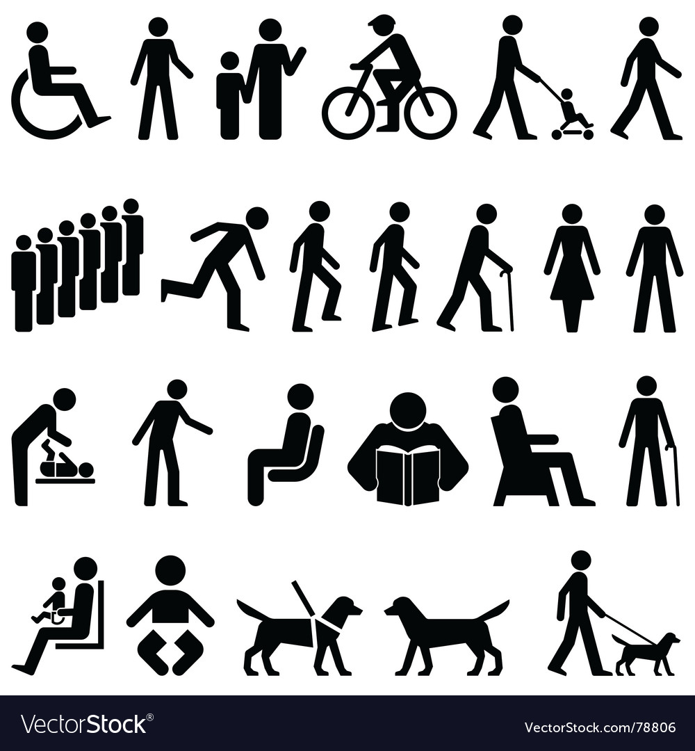 Signage people vector | Price: 1 Credit (USD $1)