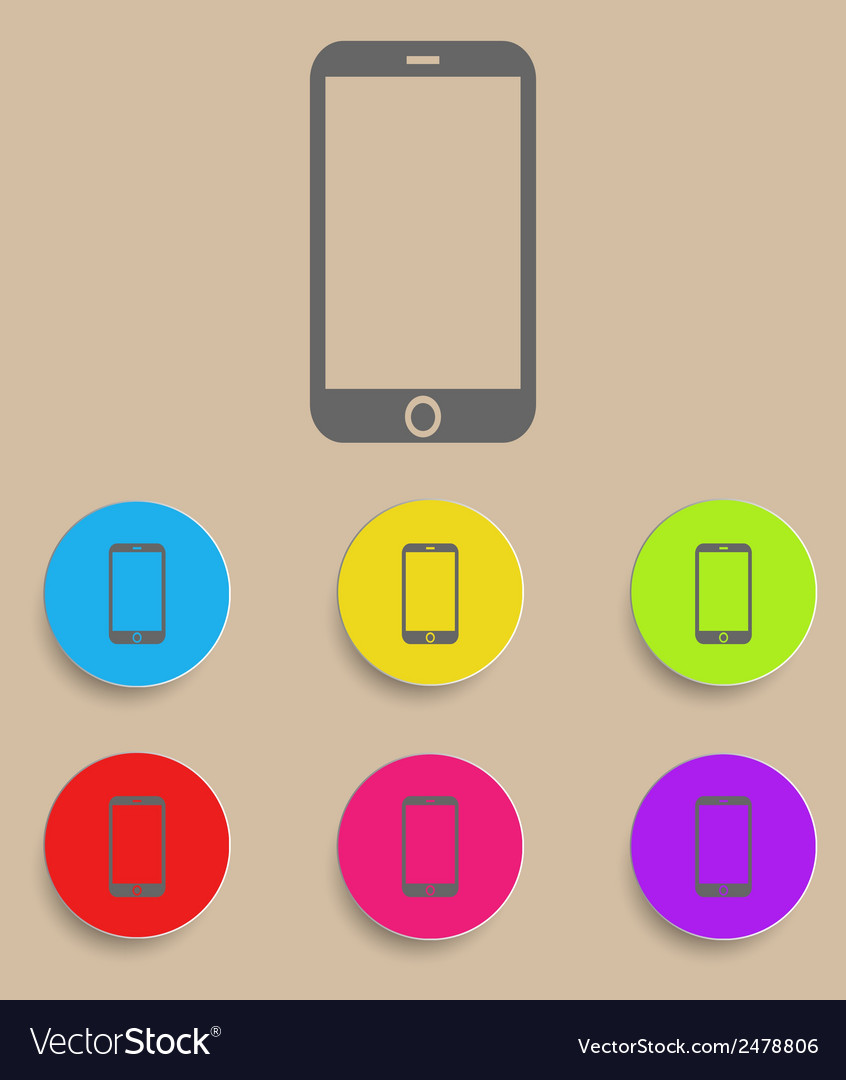 Smartphone icon with color variations vector | Price: 1 Credit (USD $1)