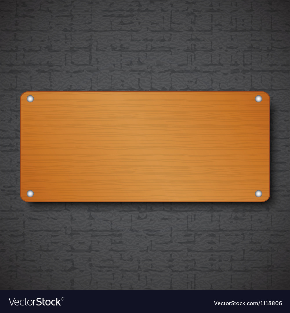Wood frame on black textured background vector | Price: 1 Credit (USD $1)