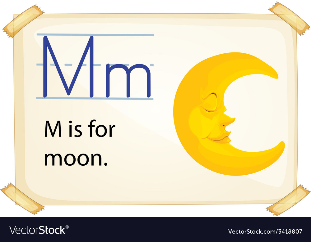 A letter m for moon vector | Price: 1 Credit (USD $1)