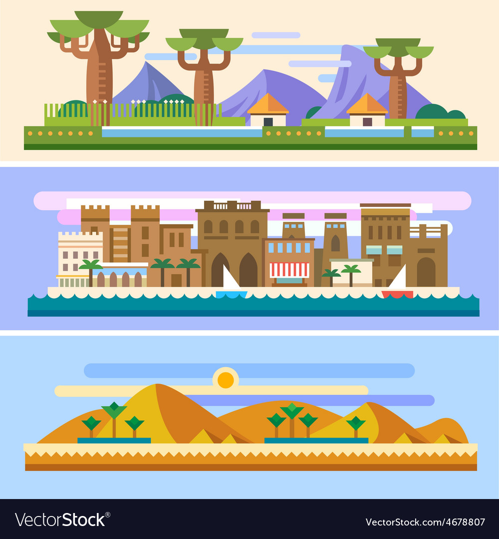 African landscapes vector | Price: 3 Credit (USD $3)