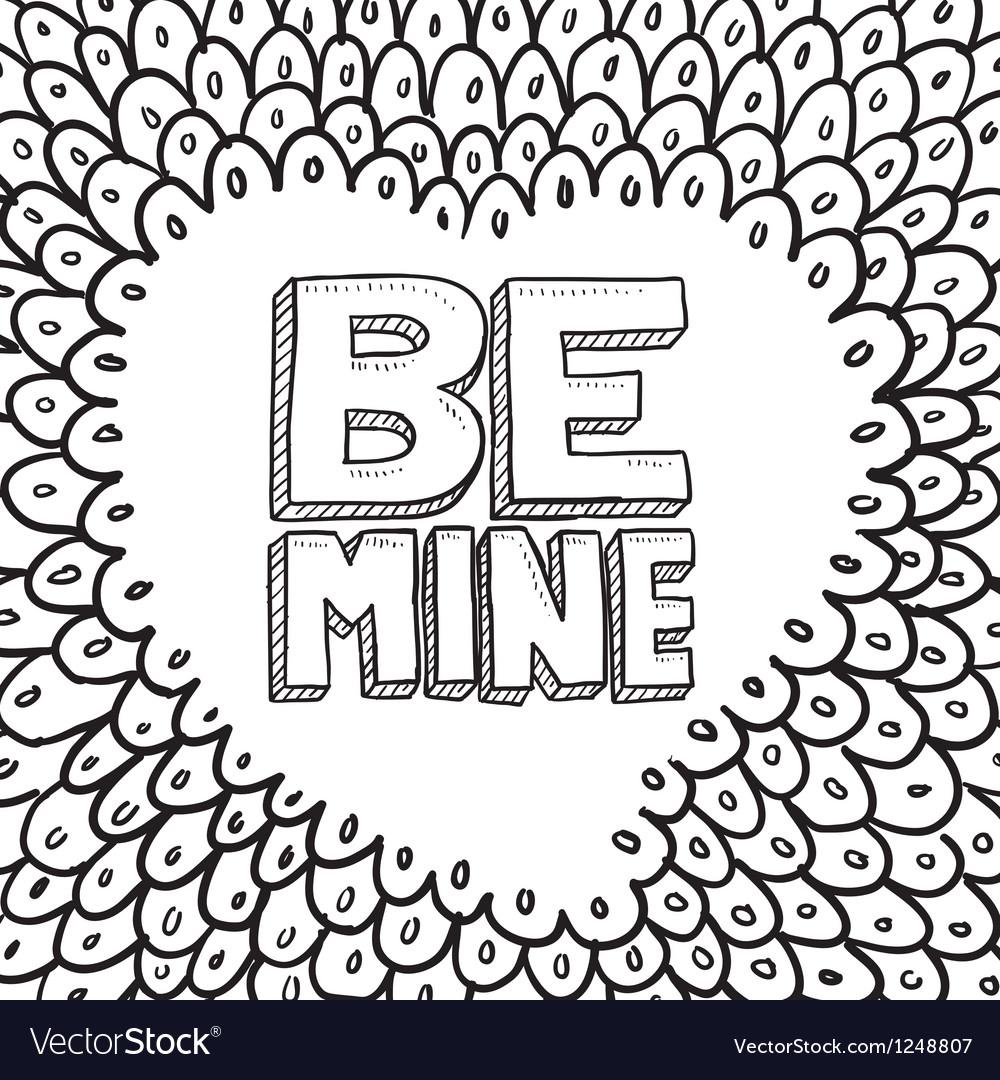 Be mine vector | Price: 1 Credit (USD $1)