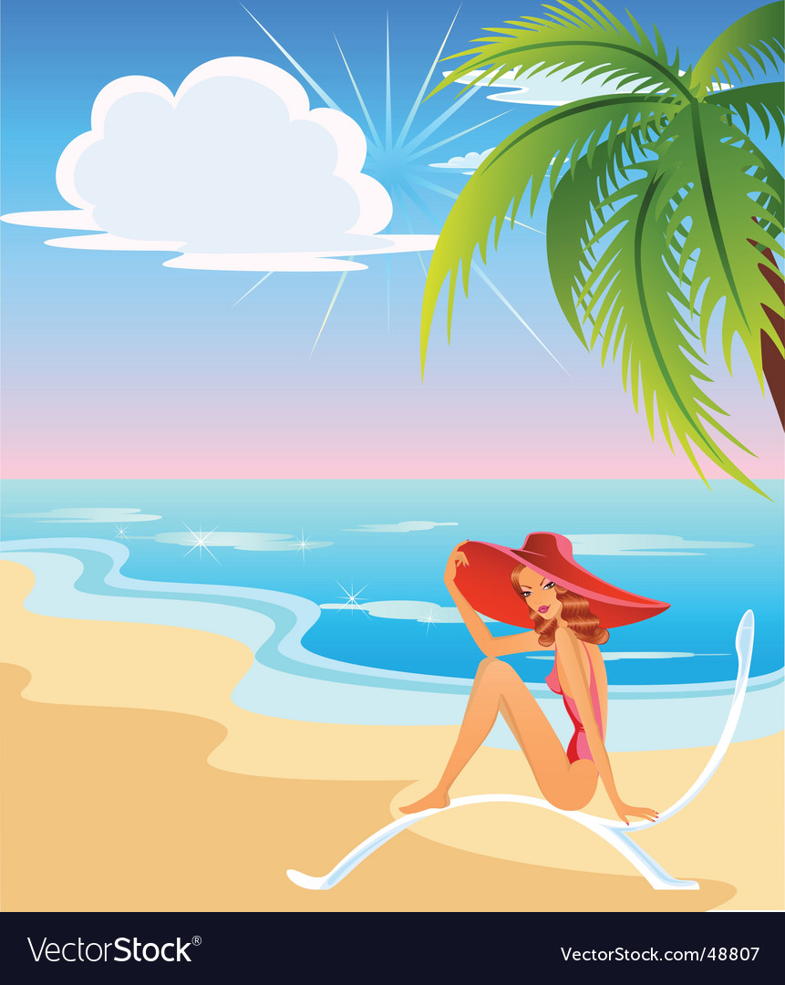 Beach babe vector | Price: 3 Credit (USD $3)