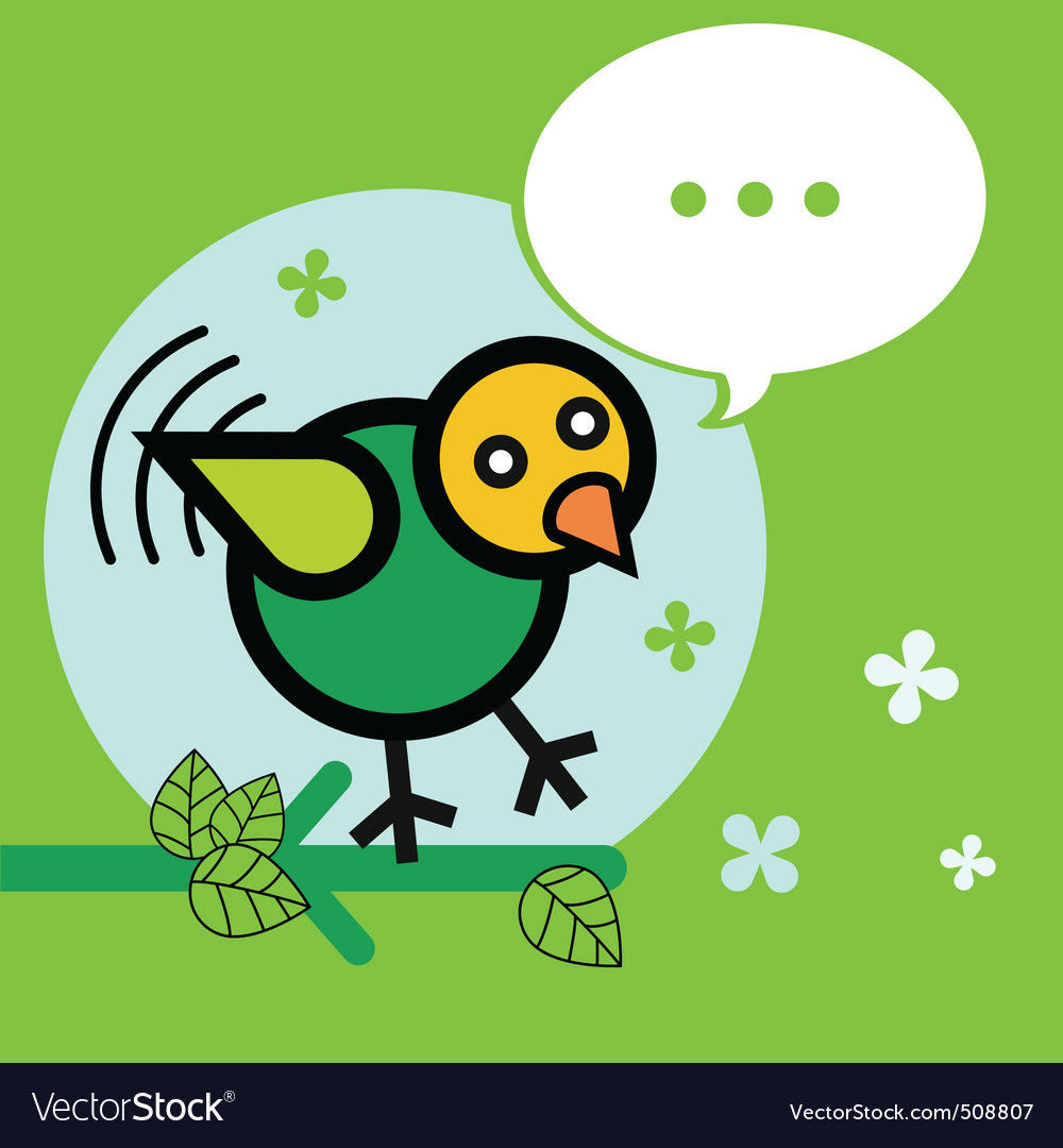 Bird twitter vector | Price: 1 Credit (USD $1)