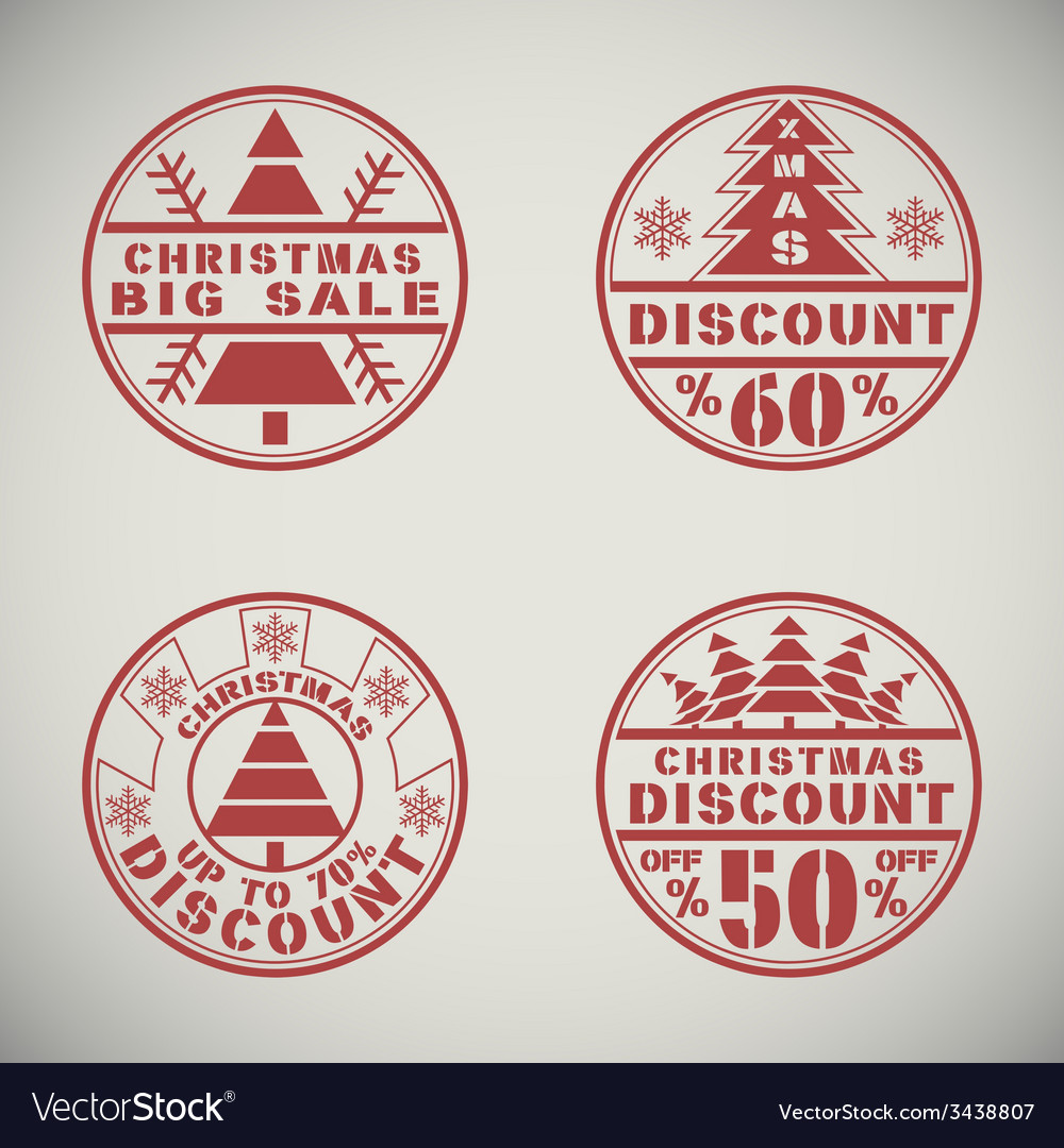 Christmas discount vector | Price: 1 Credit (USD $1)