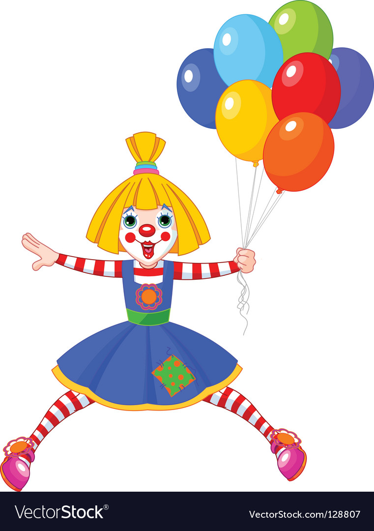 Clown girl vector | Price: 1 Credit (USD $1)