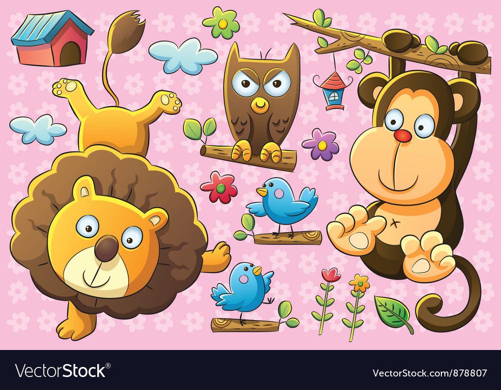 Cute animals vector | Price: 3 Credit (USD $3)