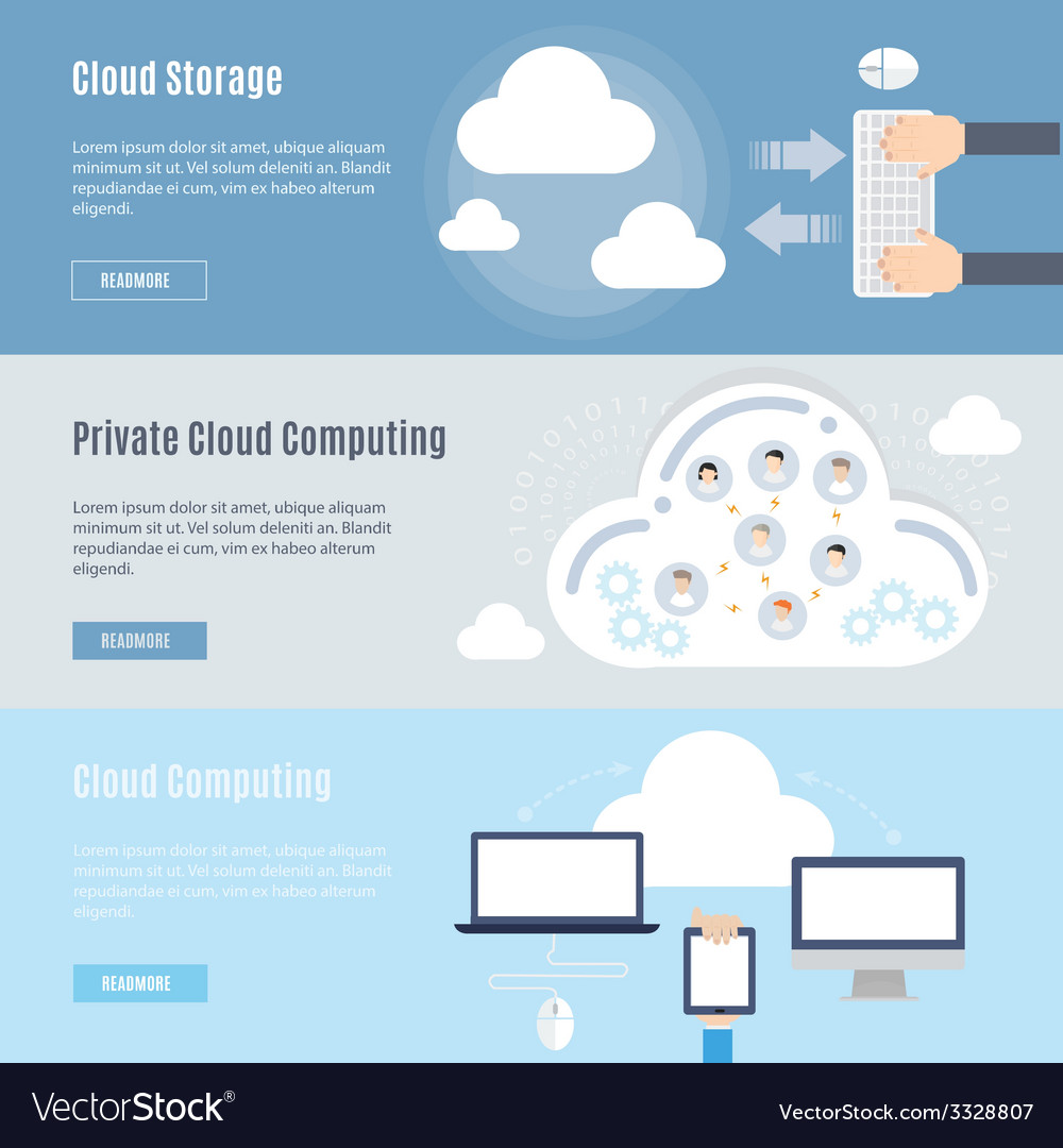Element of computer cloud concept icon in flat vector | Price: 1 Credit (USD $1)