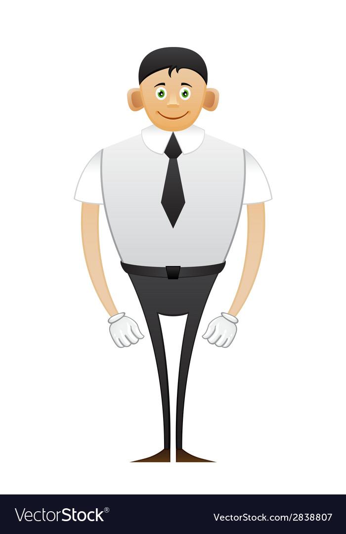 Leggy office man vector | Price: 1 Credit (USD $1)