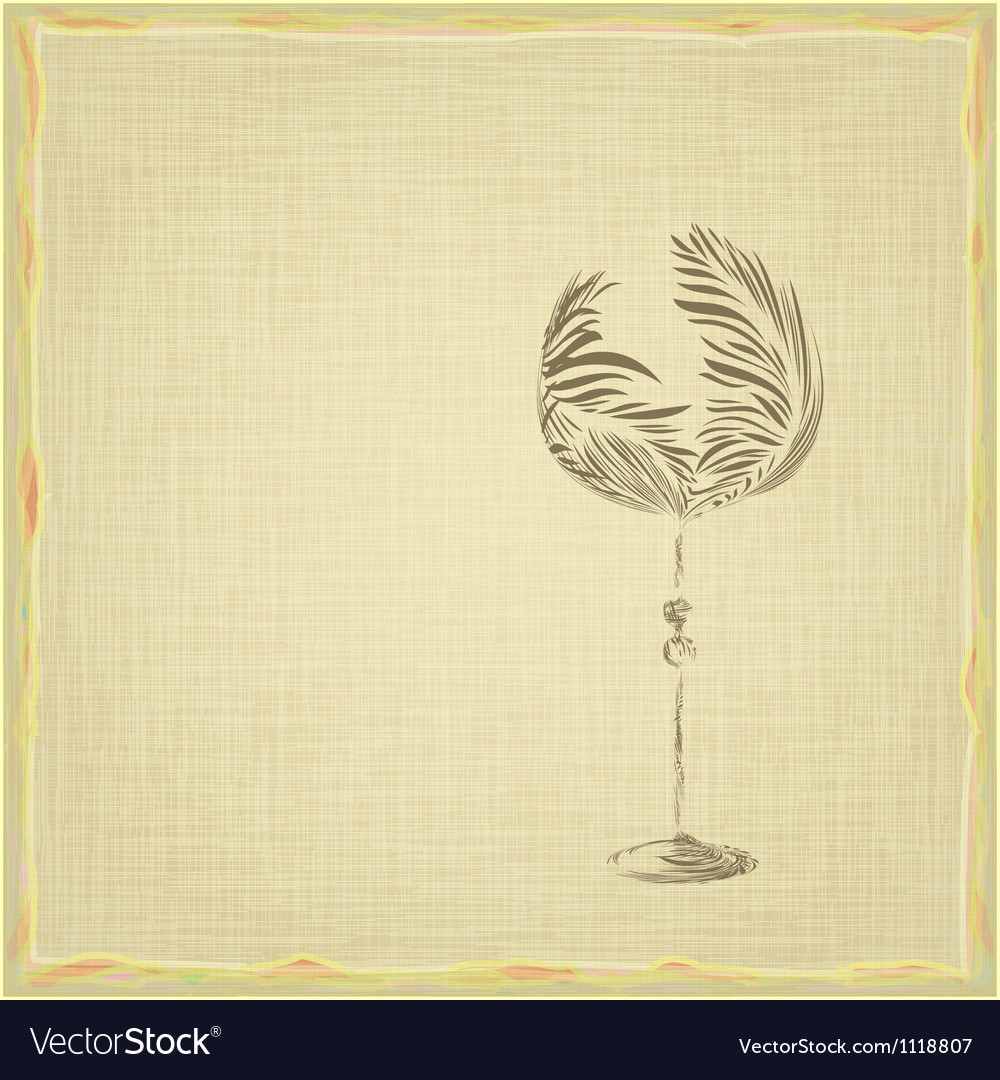Old style vintage wine card vector | Price: 1 Credit (USD $1)