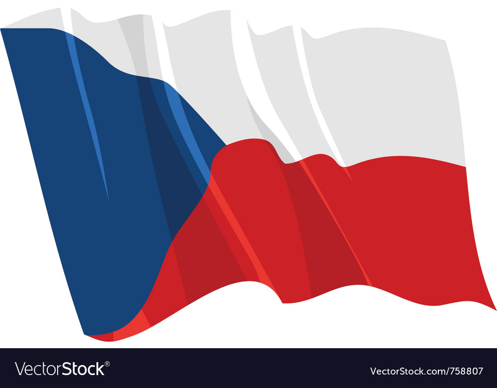 Political waving flag of czech republic vector | Price: 1 Credit (USD $1)