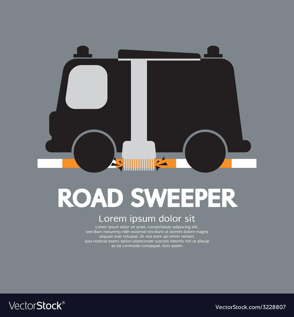 Road sweeper car vector   Price: 1 Credit (USD $1)