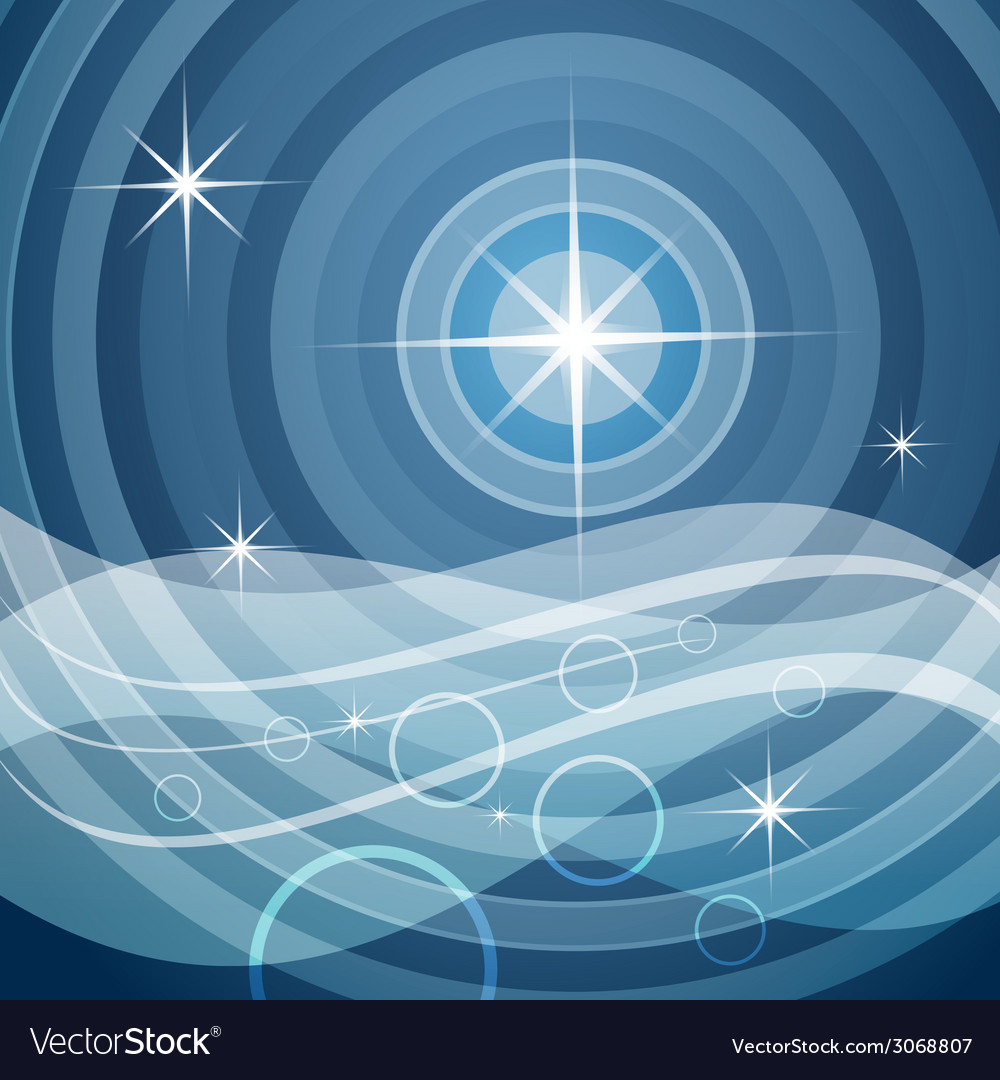 Sea and stars vector | Price: 1 Credit (USD $1)