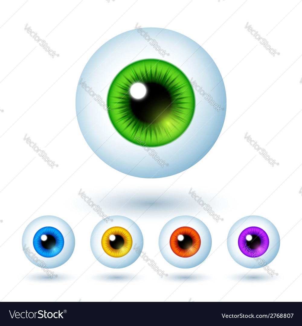 Set of cartoon colorful eyes vector | Price: 1 Credit (USD $1)