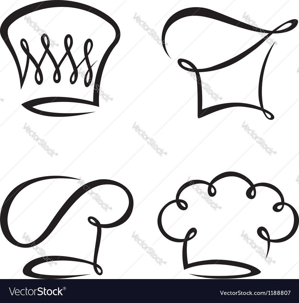 Set of chef hats vector | Price: 1 Credit (USD $1)
