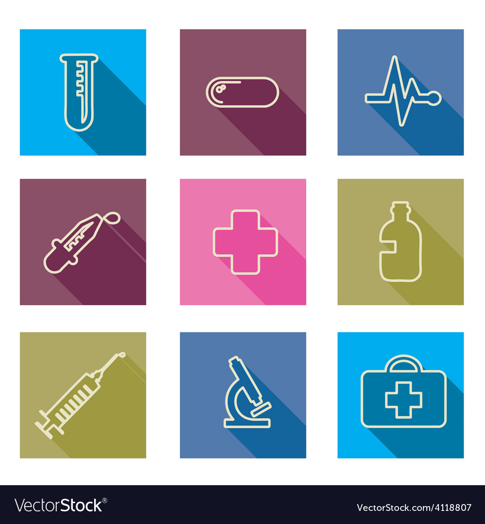 Set of medical icons line vector | Price: 1 Credit (USD $1)