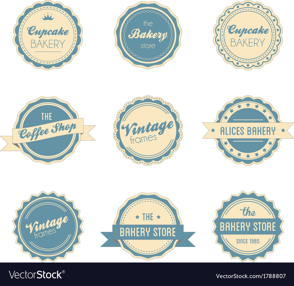 Vintage retro labels vector | Price: 1 Credit (USD $1)