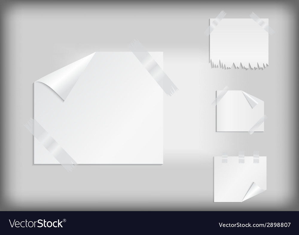 White stickers with scotch tape vector | Price: 1 Credit (USD $1)