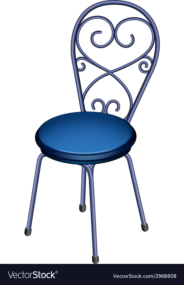 A blue chair furniture vector | Price: 1 Credit (USD $1)