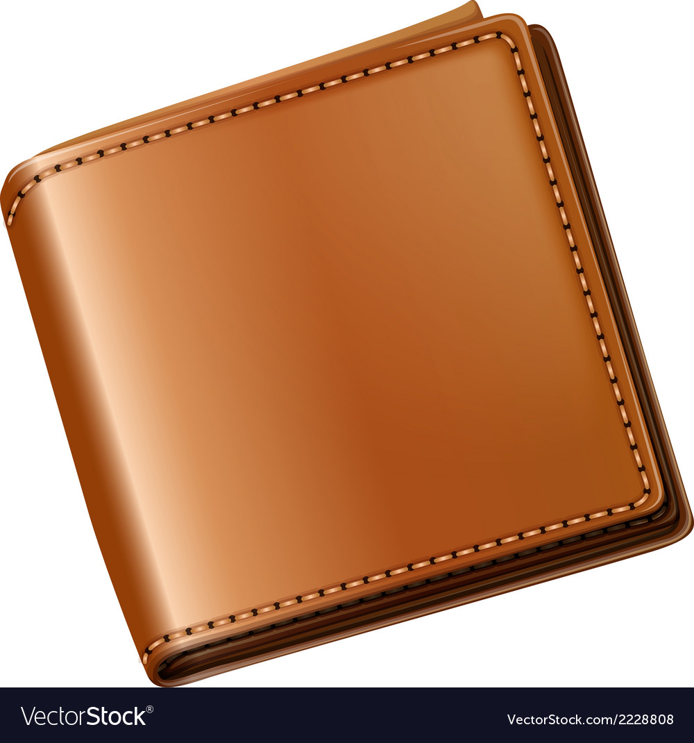 A topview of a brown wallet vector | Price: 1 Credit (USD $1)