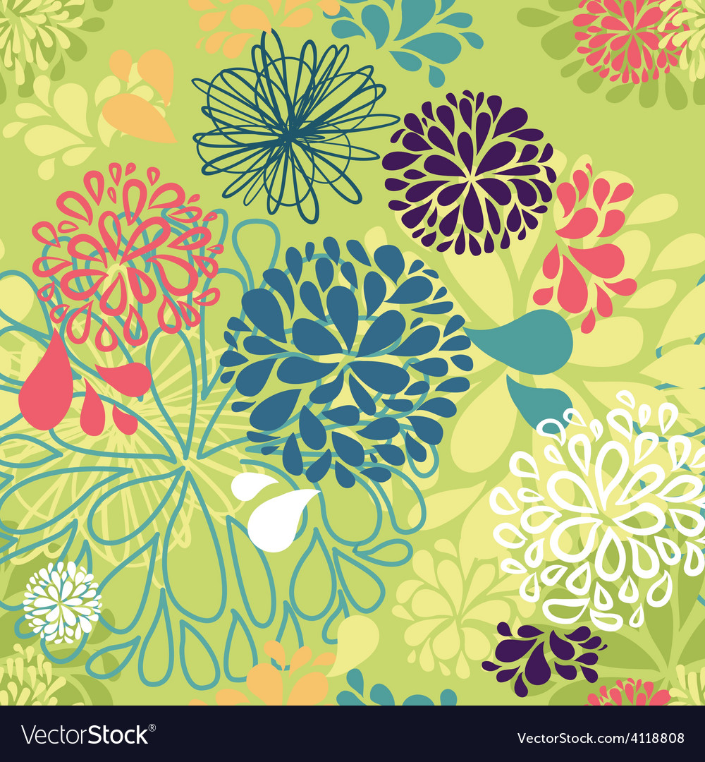 Abstract colorful doodles flowers vector | Price: 1 Credit (USD $1)
