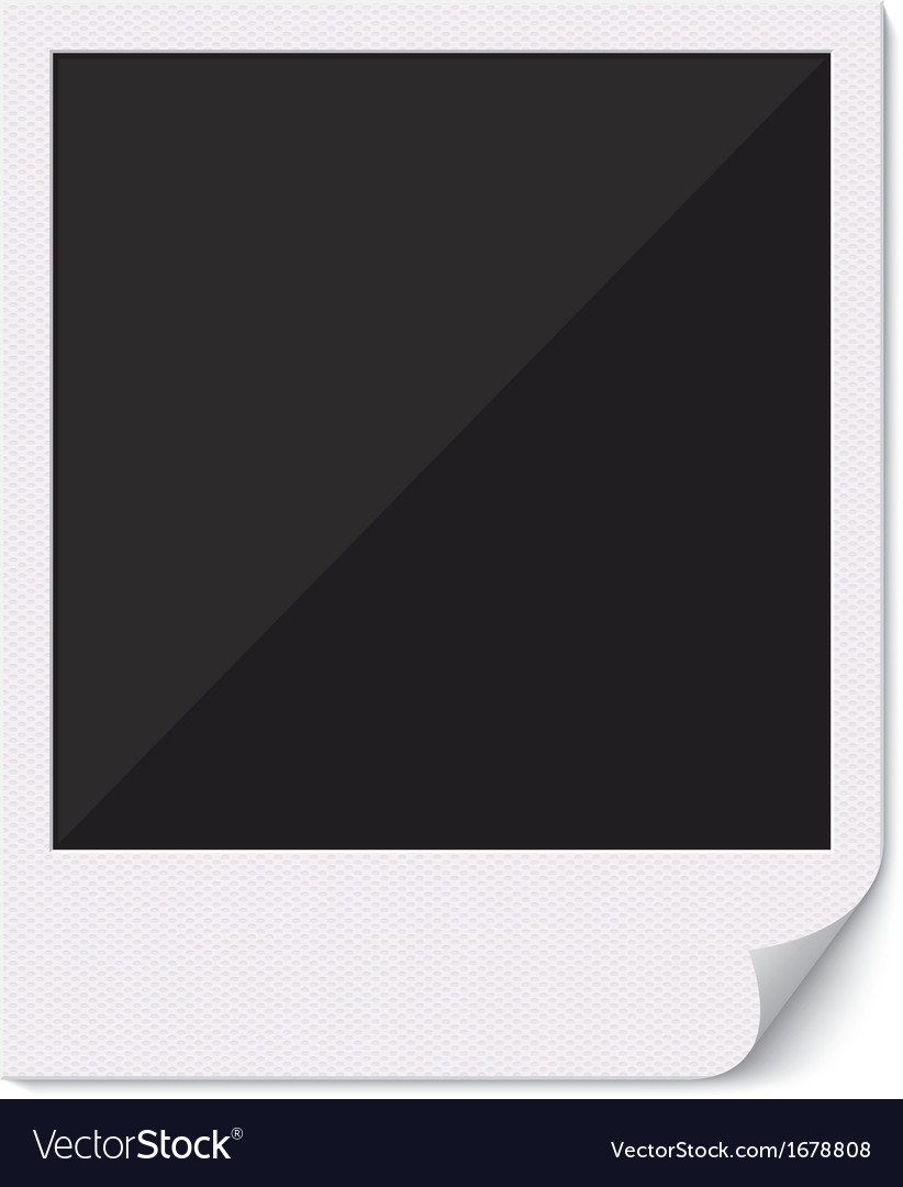Blank polaroid photo frame with curved corner vector | Price: 1 Credit (USD $1)