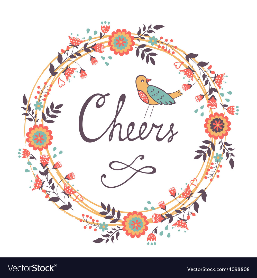 Cheers concept card vector | Price: 1 Credit (USD $1)