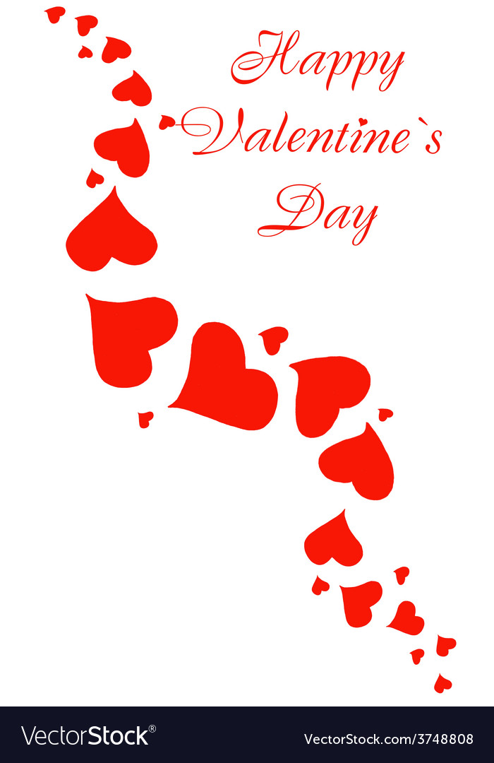Happy valentines day greeting card background vector   Price: 1 Credit (USD $1)
