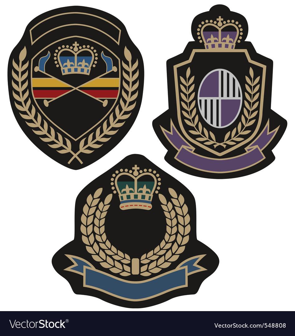 Royal badge vector | Price: 1 Credit (USD $1)
