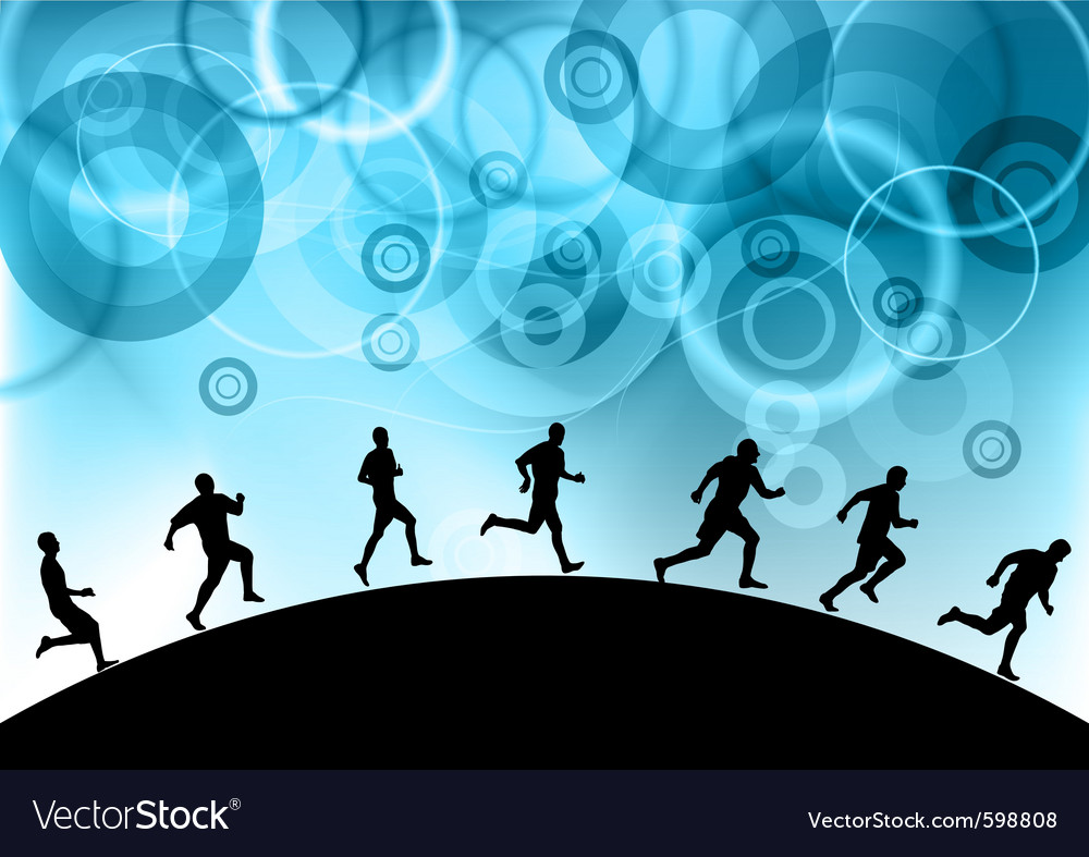 Runners vector | Price: 1 Credit (USD $1)