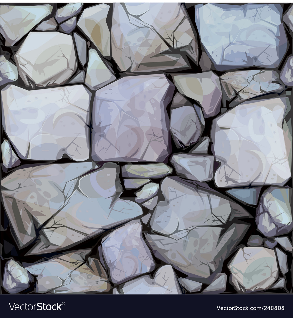 Seamless texture of stones in vector | Price: 1 Credit (USD $1)