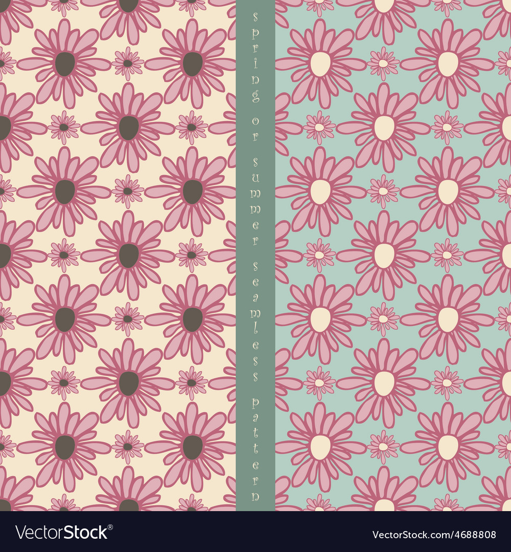 Set of seamless pattern vector | Price: 1 Credit (USD $1)