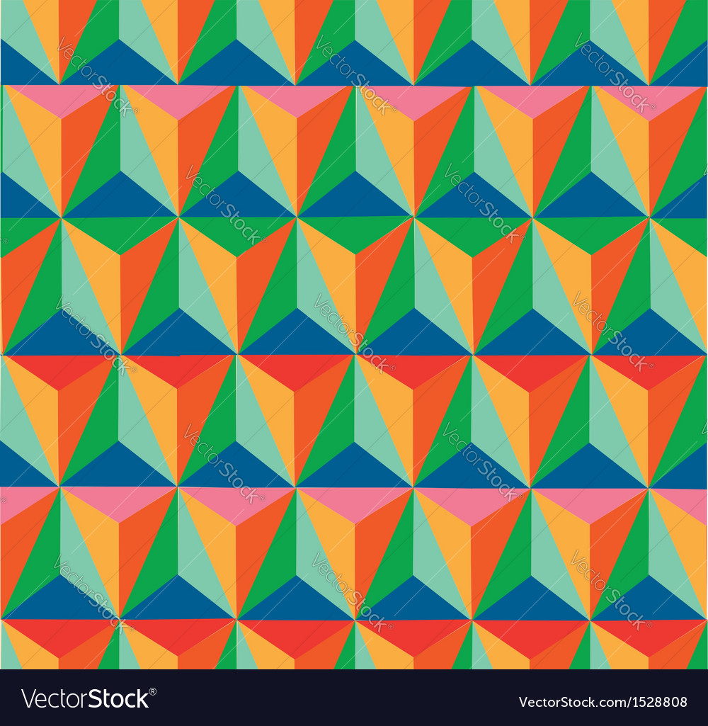 Trendy retro hipster geometric seamless pattern vector | Price: 1 Credit (USD $1)