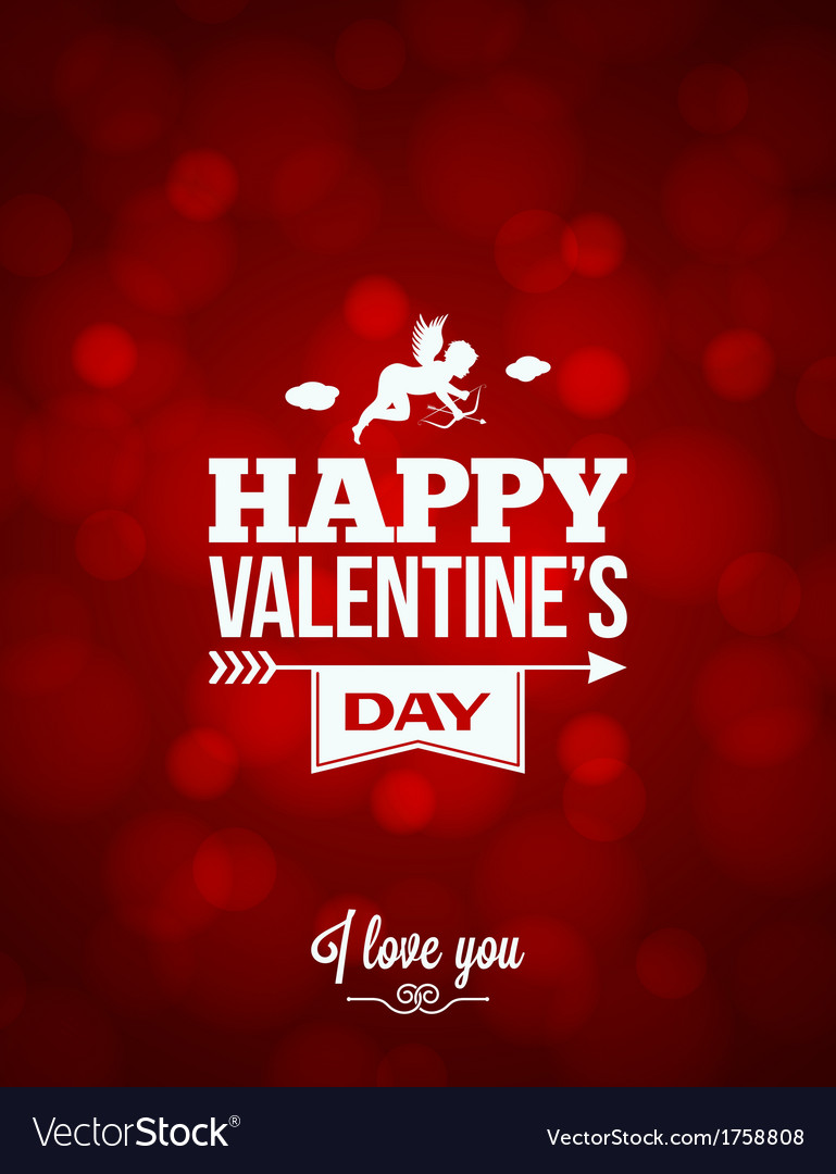 Valentines day red light background vector | Price: 1 Credit (USD $1)
