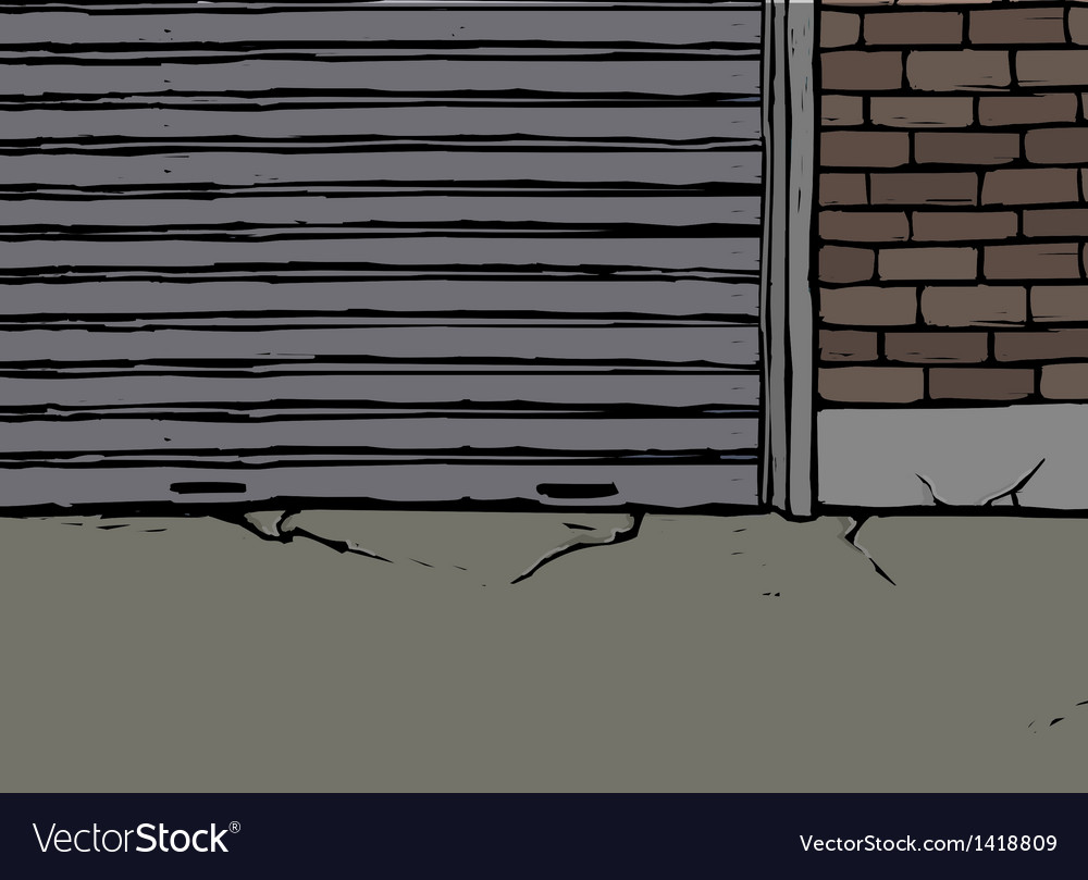Backstreet alleyway scene vector | Price: 1 Credit (USD $1)